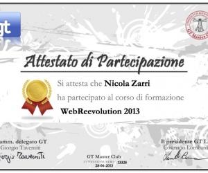 Attestato-13328 WebReevolution Roma 28:06:13