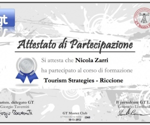 Attestato-1360 Tourism Strategies