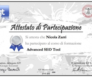 Attestato-1990 Advanced SEO Tool 2013